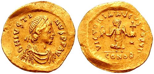 查士丁一世头像币